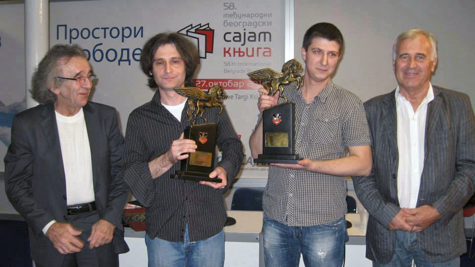 Andrija Jonić - Refren - Nagrad Pegaz za roman godine na sajmu knjiga